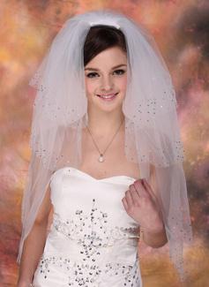 Four-tier Fingertip Bridal Veils With Cut Edge (006005420)