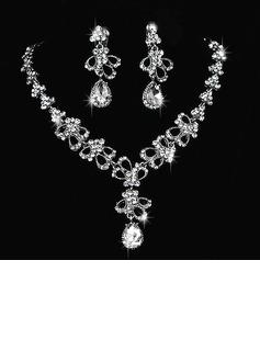 Elegante Liga/Strass Senhoras Conjuntos de jóias (011027001)