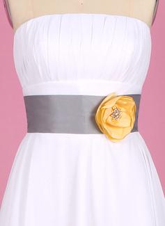 Elegante Taffettà Fusciacche con Perline/Fiore (015003406)