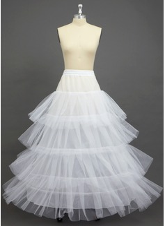 Women Tulle Netting/Polyester Floor-length 4 Tiers Petticoats (037033974)