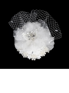 Glamourous Crystal Fascinators/Flowers & Feathers (042015994)