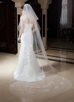 Uno capa Velos de novia capilla con Corte de borde (006035798)