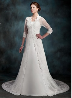 3/4-Length Sleeve Lace Wedding Wrap (013022604)