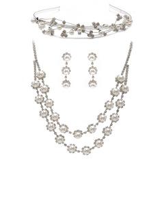 великолепный сплав/жемчуг с горный хрусталь женские Комплекты ювелирных изделий (011027484)