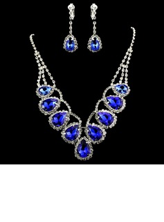 Gorgeous Alloy/Rhinestones Ladies' Jewelry Sets (011012945)