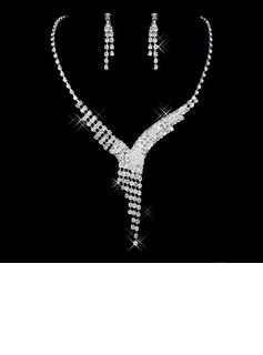 Elegante Liga/Strass Senhoras Conjuntos de jóias (011026992)