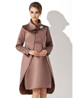 Long Sleeve Satin Special Occasion Wrap (013012430)