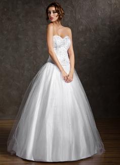 Tanssiaismekot Kullanmuru Lattiaa hipova pituus Tylli Quinceanera mekko jossa Helmikuvoinnit (021004578)