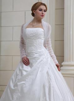 Lange Mouw Tule huwelijk Wrap (013022585)