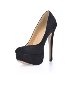 Suede Stiletto Heel Pumps Plateau Closed Toe schoenen (085017505)