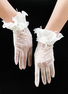 Тюль/Кружева Наручные длина Свадебные перчатки (014200792)