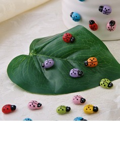 Beetle Shaped Wooden Stickers (Set of 100 pieces) (051053236)