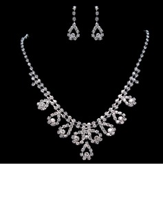 Gorgeous Alloy/Rhinestones Ladies' Jewelry Sets (011015982)