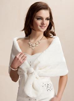 Faux Fur Huwelijk Wrap (013002337)