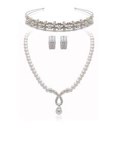 Элегантные сплав/жемчуг с горный хрусталь Женщины Комплекты ювелирных изделий (011027507)