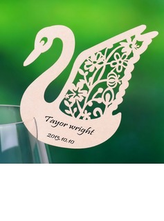 Swan Design Pearl Paper Place Cards (set of 12) (131037407)