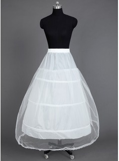 Women Nylon/Tulle Netting Tea-length 1 Tiers Petticoats (037031005)