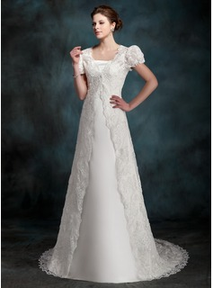Short Sleeve Lace Wedding Wrap (013022600)