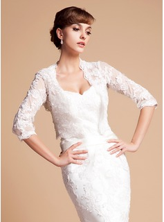 Half-Sleeve Lace Wedding Wrap (013014587)