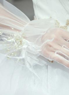 Тюль/Кружева локоть длина Свадебные перчатки (014200784)
