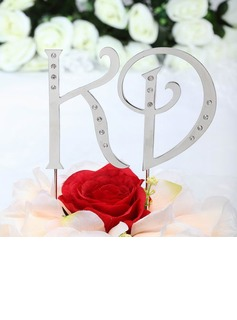 Monogram Chrome Wedding Cake Topper (119030814)