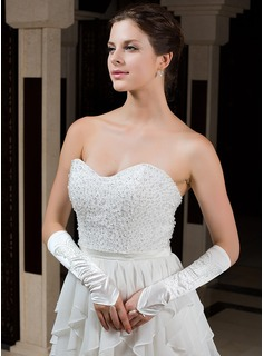 Elastic Satin Elbow Length Party/Fashion Gloves/Bridal Gloves (014036017)