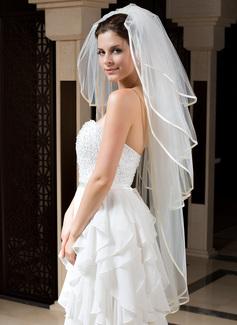 Cuatro capas Velos de novia vals con Con lazo (006035783)