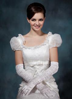 Упругие атласная Опера длина Свадебные перчатки (014020509)