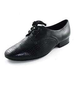Мужская Натуральня кожа На плокой подошве Бальные танцы с Шнуровка Обувь для танцев (053013036)