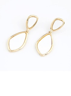 Beautiful Alloy Coloured Glaze Ladies' Fashion Earrings (011035129)