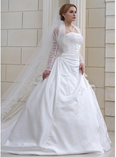 One-tier Cathedral Bridal Veils With Pencil Edge (006022582)