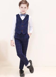 Ragazzi 4 pezzi Tartan Abiti per Paggetti /Page Boy Suits con Camicia ovest Pantaloni ciclo continuo (287204957)