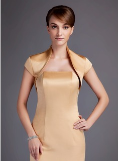 Short Sleeve Satin Special Occasion Wrap (013016008)