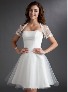 Short Sleeve Lace Special Occasion Wrap (013016919)