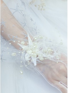 Тюль/Кружева локоть длина Свадебные перчатки (014200783)