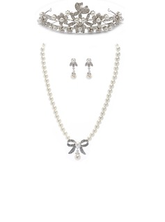 Beautiful Alloy/Pearl With Rhinestone Ladies' Jewelry Sets (011027519)