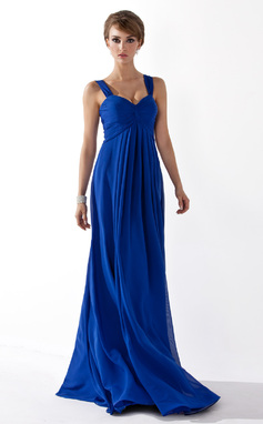 Empire Sweetheart Floor-Length Chiffon Bridesmaid Dress With Ruffle (007051835)