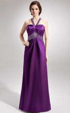 Empire Sweetheart Floor-Length Charmeuse Prom Dress With Ruffle Beading (018135254)