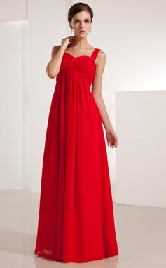 Empire Sweetheart Floor-Length Chiffon Evening Dress With Ruffle (017021123)