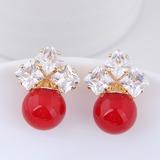 Beautiful Alloy Zircon With Zircon Women's Fashion Earrings (137190528)