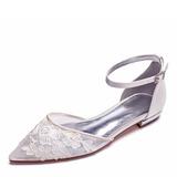 Femmes Mesh Talon plat Bout fermé Chaussures plates avec Motif appliqué (047187620)