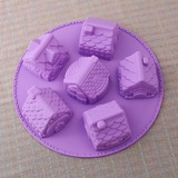 Cute House Shaped Silicone Cake Mould (051053249)