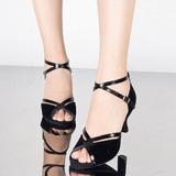 Женщины кожа Замша Сандалии На каблуках Латино с пряжка Обувь для танцев (053109353)
