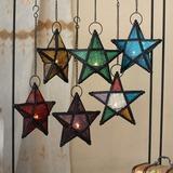 Star design/Colorful Glasses Vintage Metal Candle Holder (131186061)