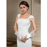 Упругие атласная Наручные длина Партии/мода перчатки/Свадебные перчатки (014024480)