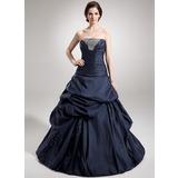 Платье для Балла Без лямок Длина до пола Тафта Пышное платье с Рябь Бисер блестками (021020888)