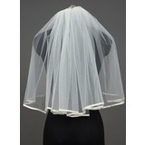 One-tier Elbow Bridal Veils With Ribbon Edge (006034402)