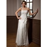 Vestidos princesa/ Formato A Coração Longos Tule Vestido de noiva com Renda Bordado Curvado (002014262)