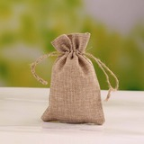 Elegante Lino Bolsos de regalos (Juego de 12) (050055105)