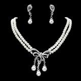 Элегантные жемчуг с горный хрусталь Женщины Комплекты ювелирных изделий (011019383)